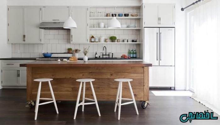 %عکس - انواع مدل جزیره آشپزخانه اپن[کلاسیک و مدرن]