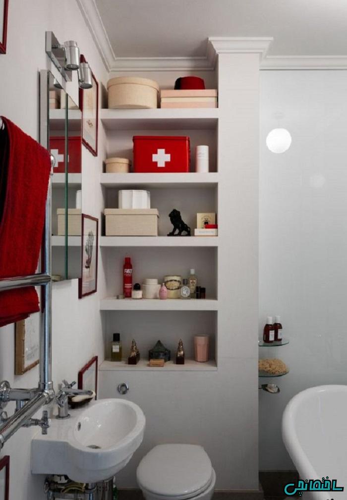 %عکس - 8 ترفند بزرگنمایی حمام و دستشویی کوچک