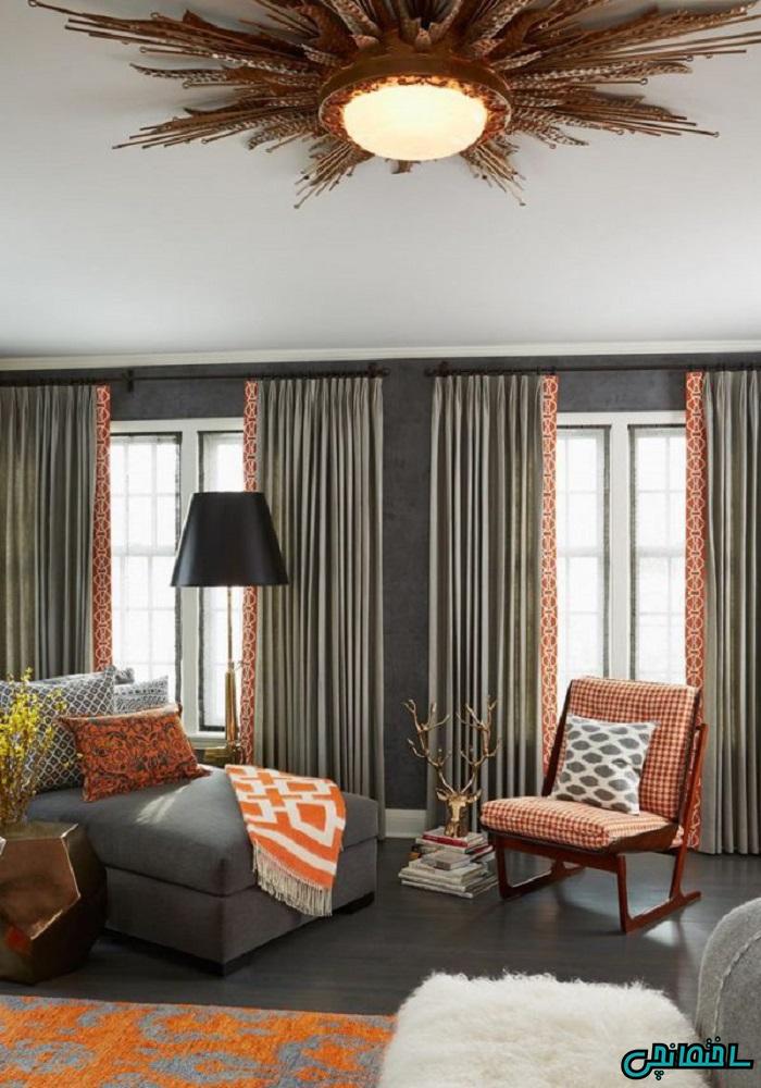 انتخاب رنگ پرده اتاق خواب