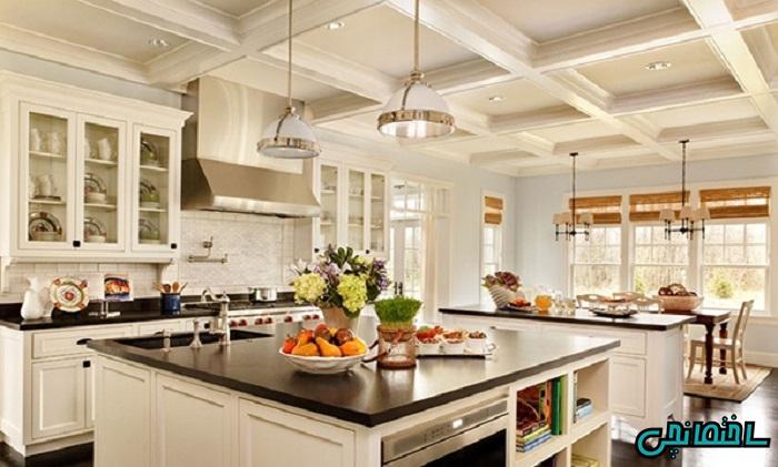 استفاده از پرده های رنگی در آشپزخانه