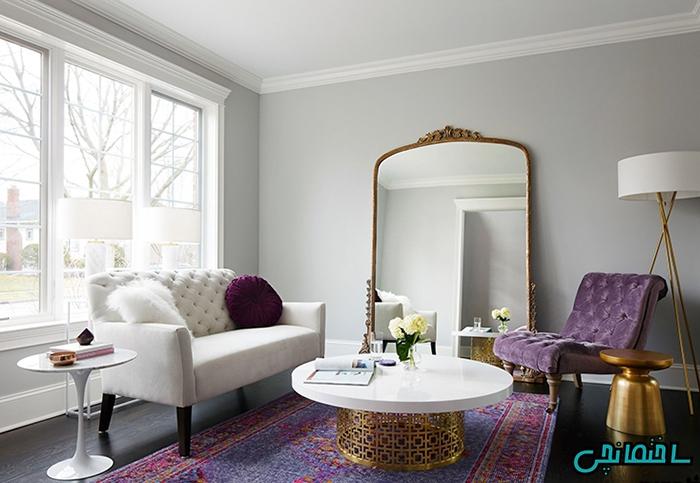 استفاده از رنگ ارغوانی در دیزاین خانه