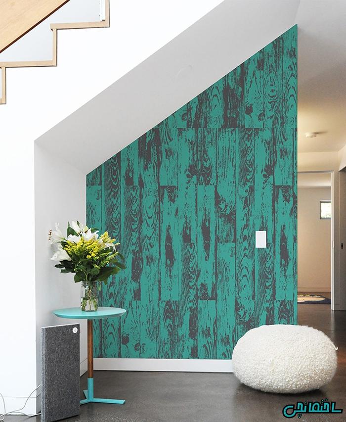 استفاده از پانل های دیواری با رنگ غالب