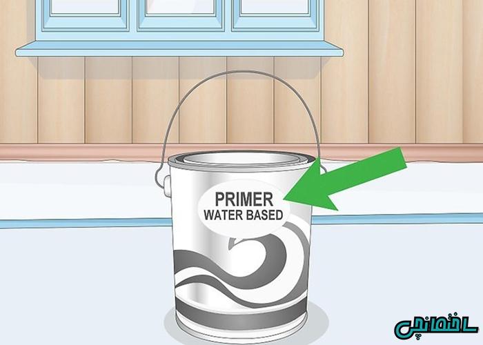 از پرایمر پایه آب استفاده نمایید