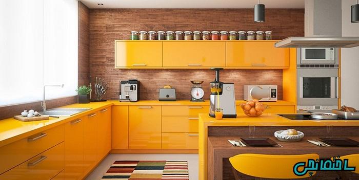 %عکس - ایده و نمونه های استفاده از کابینت مدرن در آشپزخانه های امروزی