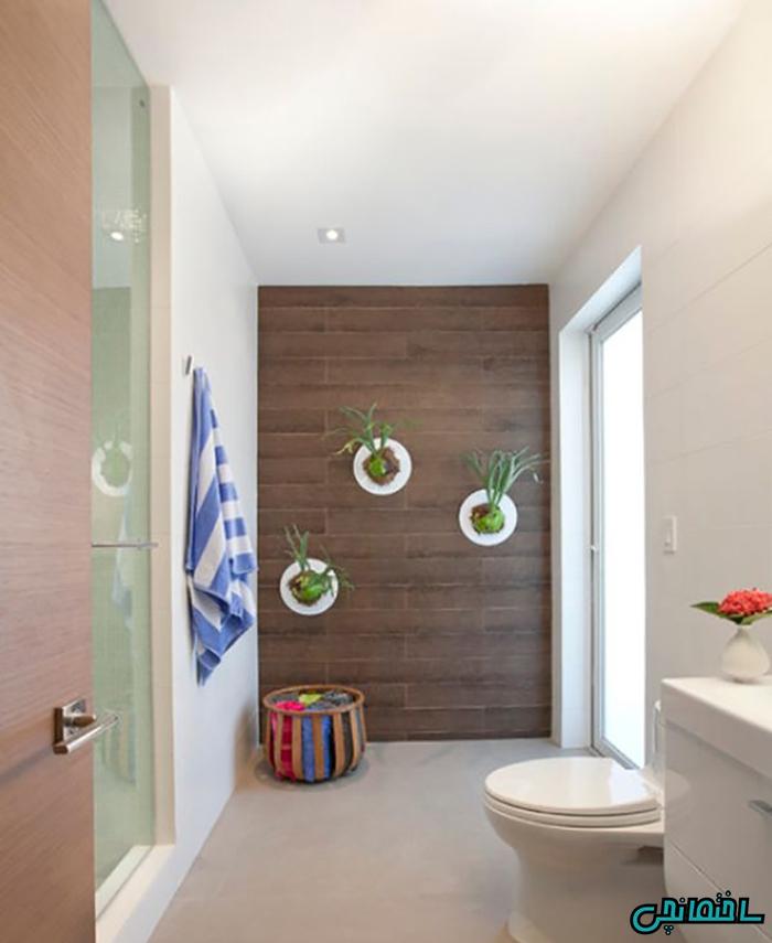استفاده از گلدان در حمام