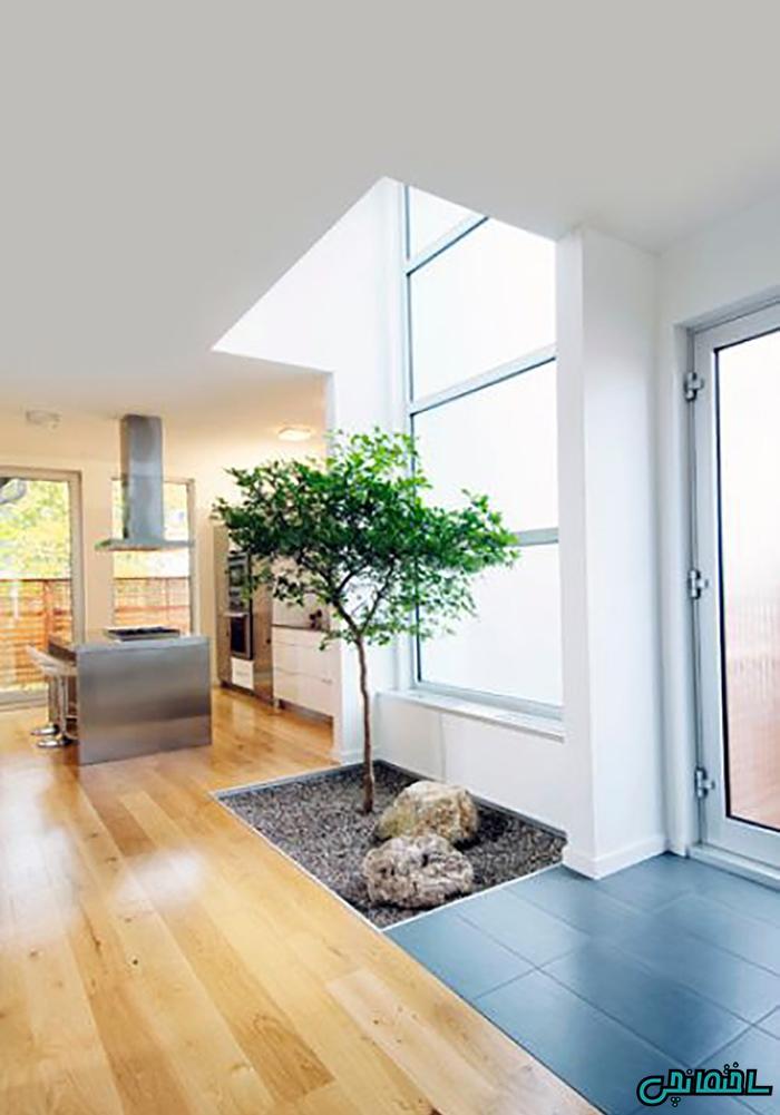 استفاده از گیاهان در ورودی خانه