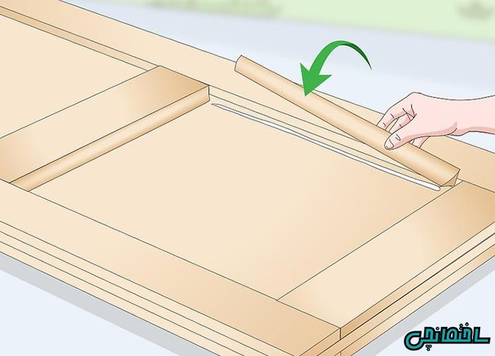 %عکس - آموزش ساخت درب چوبی