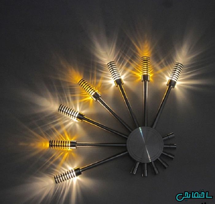 %عکس - راهکارهای نورپردازی اتاق نشیمن