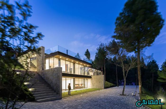 تصاویر ساختمانی لوکس با چشم اندازی زیبا
