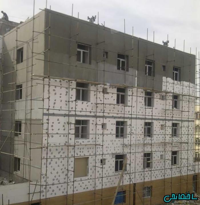 %عکس - عایق بندی ساختمان با نمای ETICS