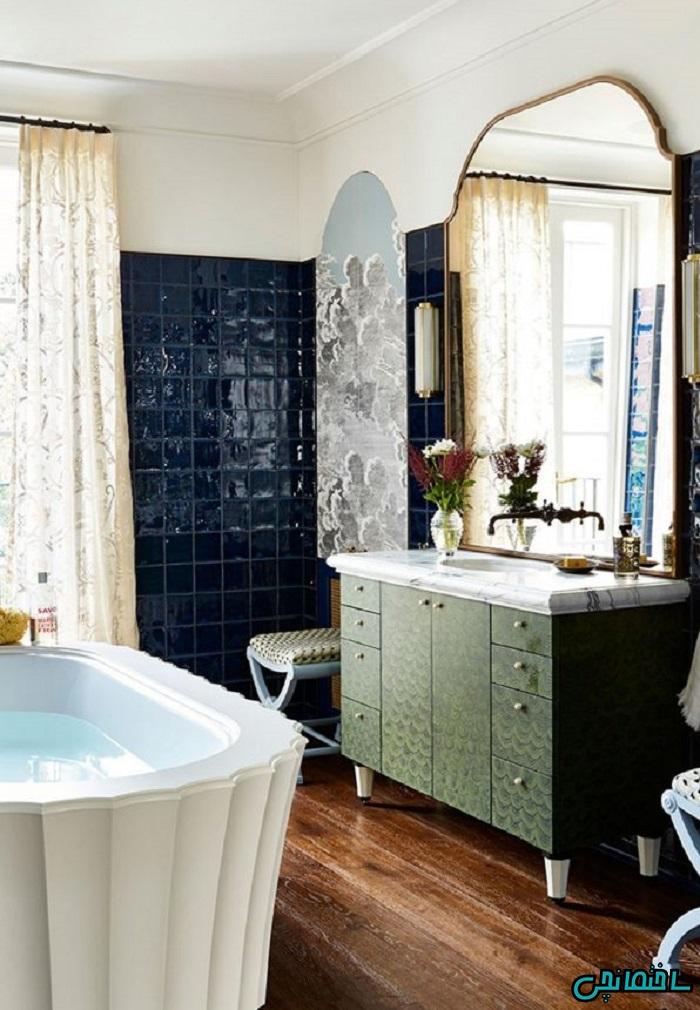 %عکس - زیباترین طرح های حمام