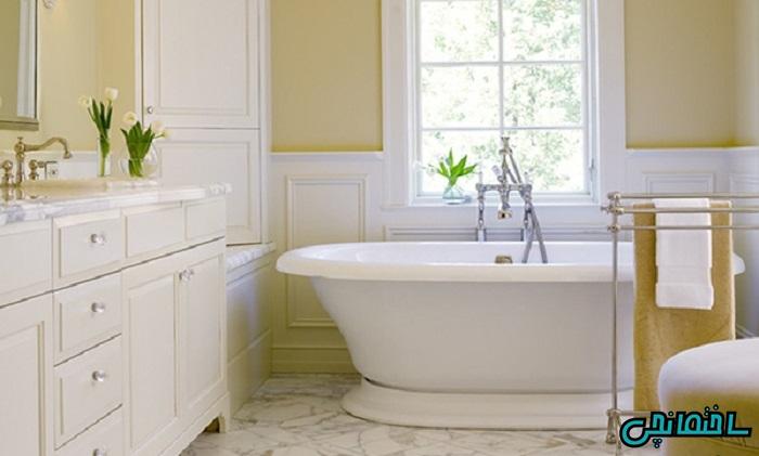 استفاده از رنگ زرد در طراحی حمام