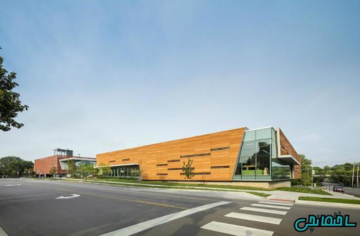 %عکس - تصاویر ساختمان کتابخانه عمومی
