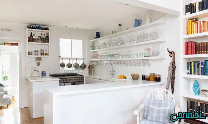 %عکس - مدل های شلف دکوری دیواری برای تلویزیون و آشپزخانه
