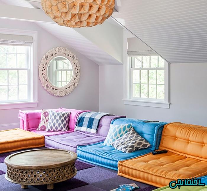 چند رنگ در طراحی اتاق نشیمن