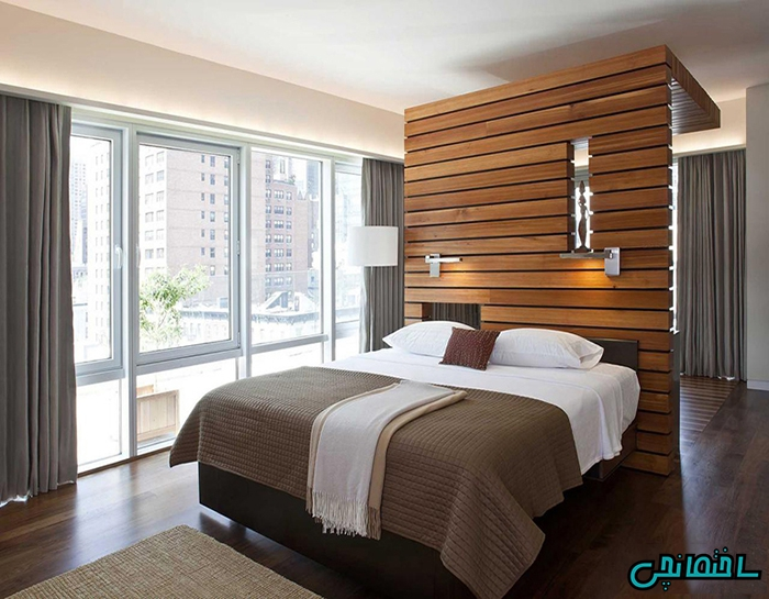 %عکس - کاربرد چوب طبیعی در دکوراسیون داخلی ساختمان