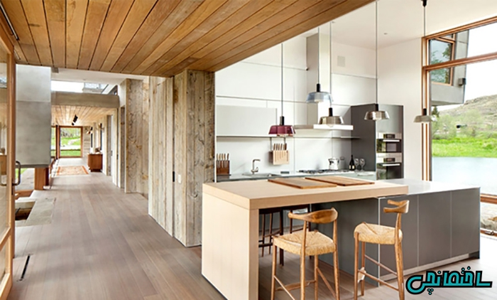 استفاده از چوب طبیعی در طراحی سقف