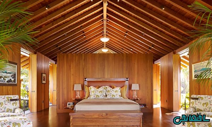 استفاده از چوب طبیعی در طراحی اتاق خواب