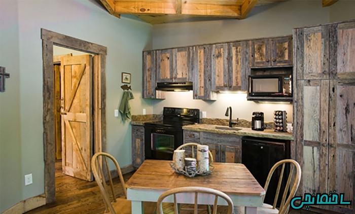 استفاده از چوب طبیعی در طراحی کابینت