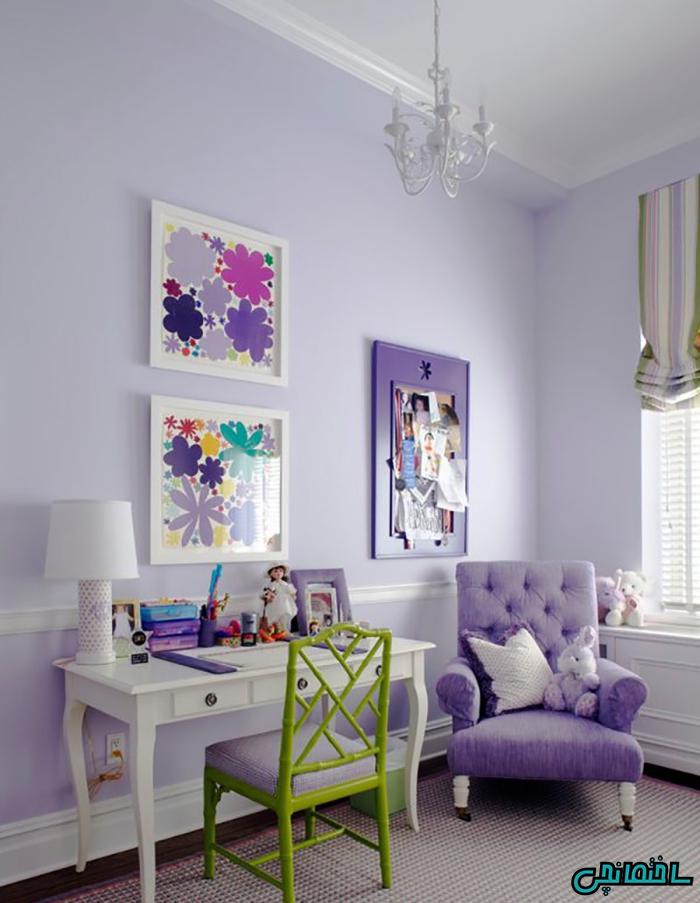 %عکس - رنگ بنفش و ترکیبات مناسب آن
