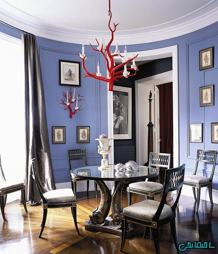%عکس - استفاده از رنگ بنفش در طراحی داخلی