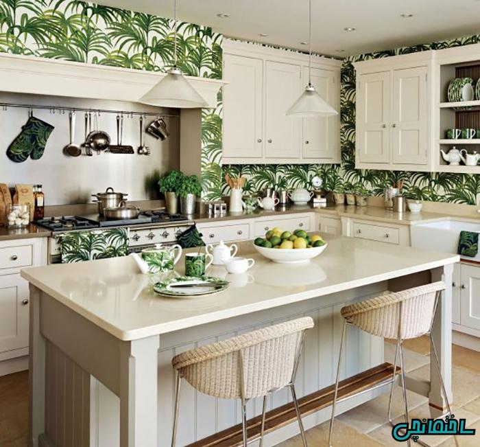 %عکس - کاغذ دیواری آشپزخانه