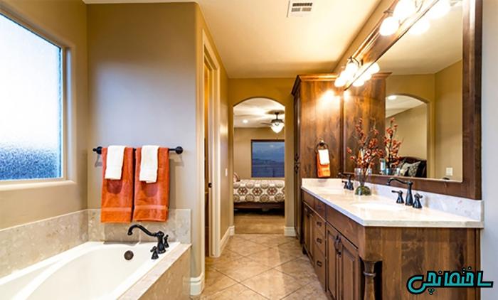درب آرک دار برای حمام