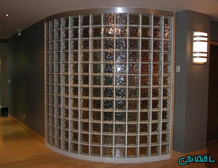 دیوار با بلوک شیشه ای