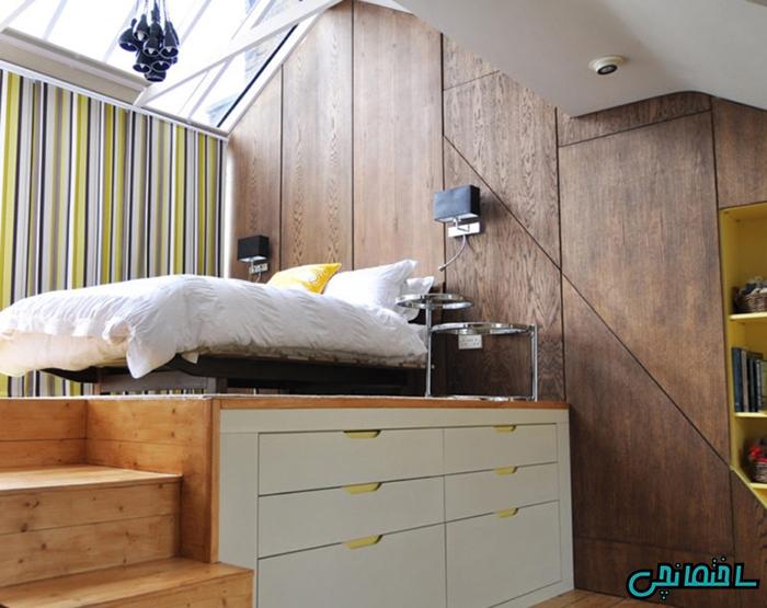 %عکس - بهینه سازی فضای زیر تخت خواب