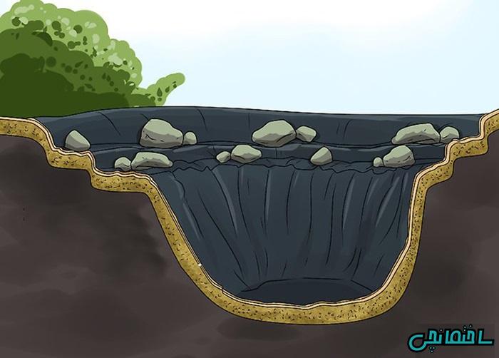 %عکس - آموزش ساخت حوضچه