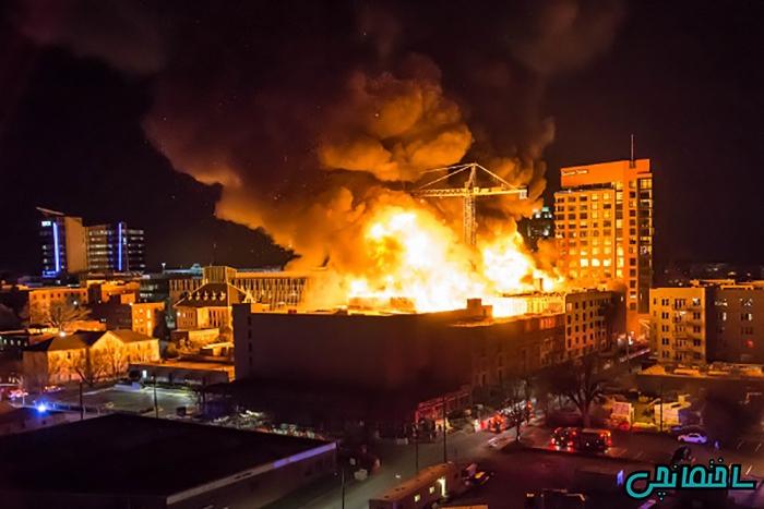 %عکس - بیمه آتش سوزی ساختمان