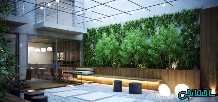 طراحی محوطه بیرونی حیاط