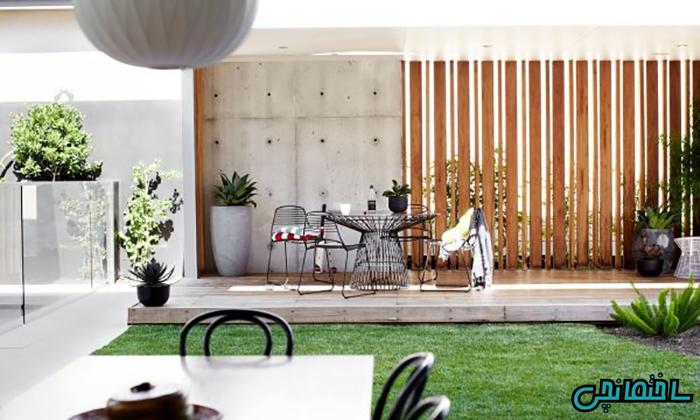 ایجاد نقطه کانونی در حیاط