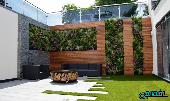 طراحی حیاط شیک