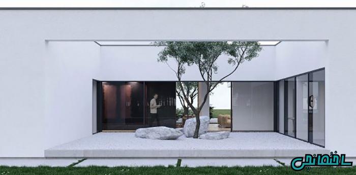 طراحی حیاط ساده