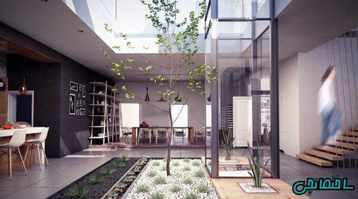 حیاط داخل خانه