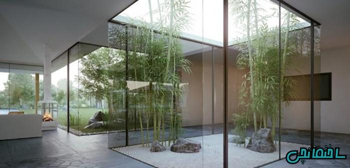 حیاط شیشه ای