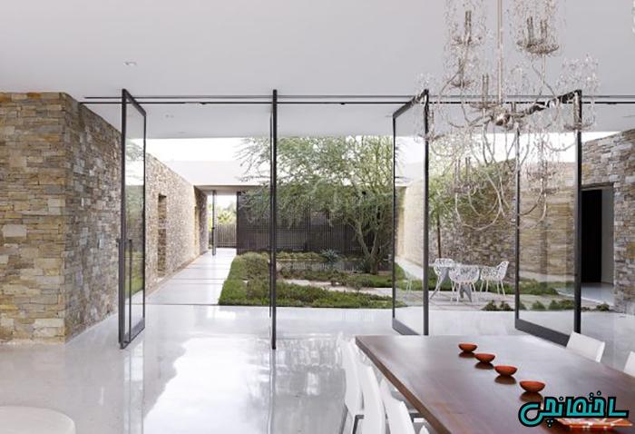 طراحی حیاط بزرگ