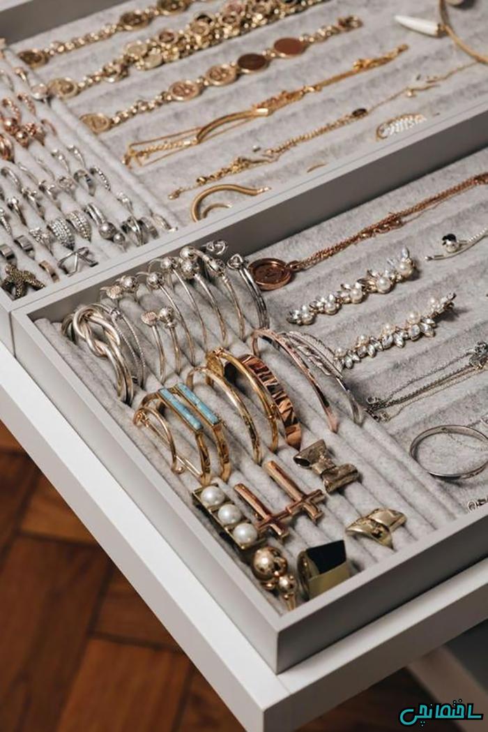 استفاده از کشوهای نظم دهنده جواهر