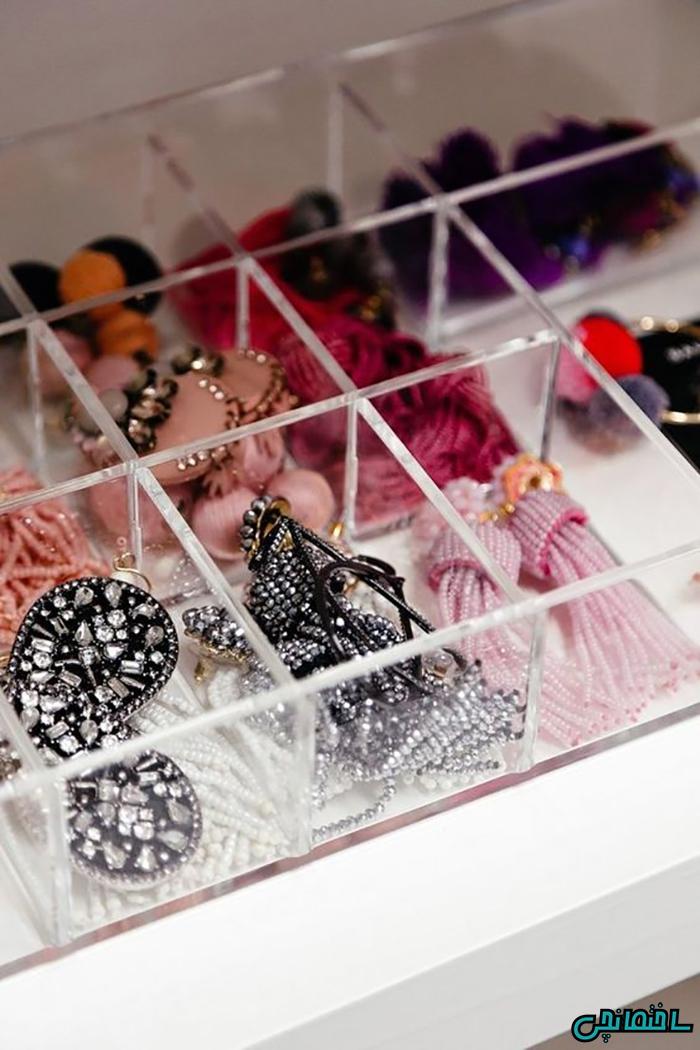 استفاده از جداکننده های شیشه ای جواهرات