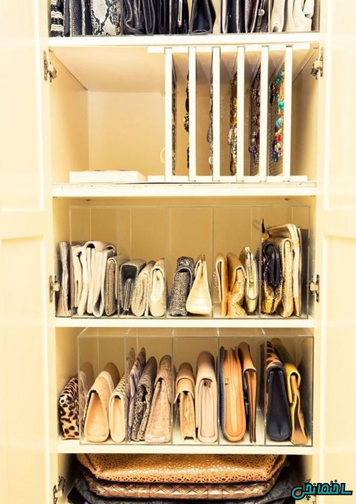 استفاده بهینه از فضای داخلی کمد و ایجاد فضایی برای قرار دادن اشیاء تزئینی و زیورآلات