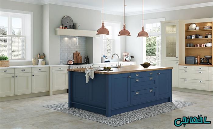 استفاده از رنگ آبی در آشپزخانه