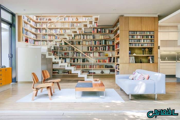 کتابخانه برای اتاق نشیمن