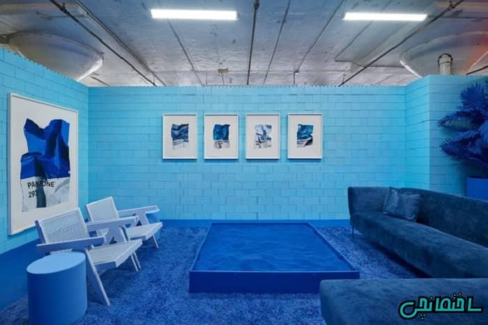 طراحی آبی به سبک مونوکروماتیک