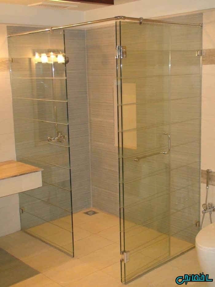 حمام شیشه ای پارتیشن