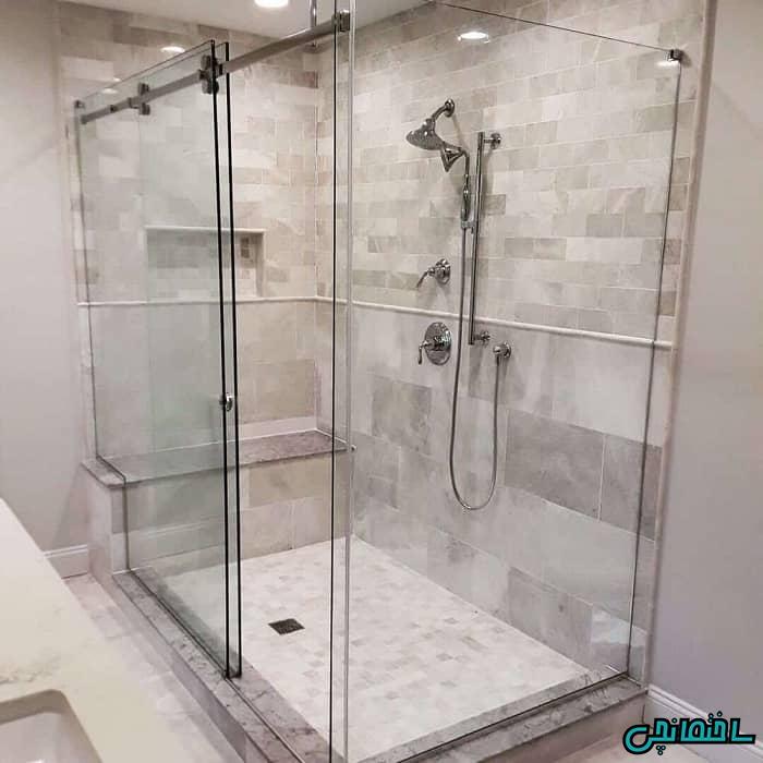 حمام شیشه ای ریلی