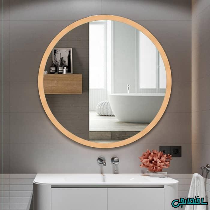 آینه روشویی گرد