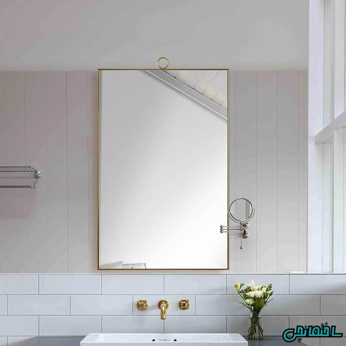 مدل آینه روشویی ساده قاب دار