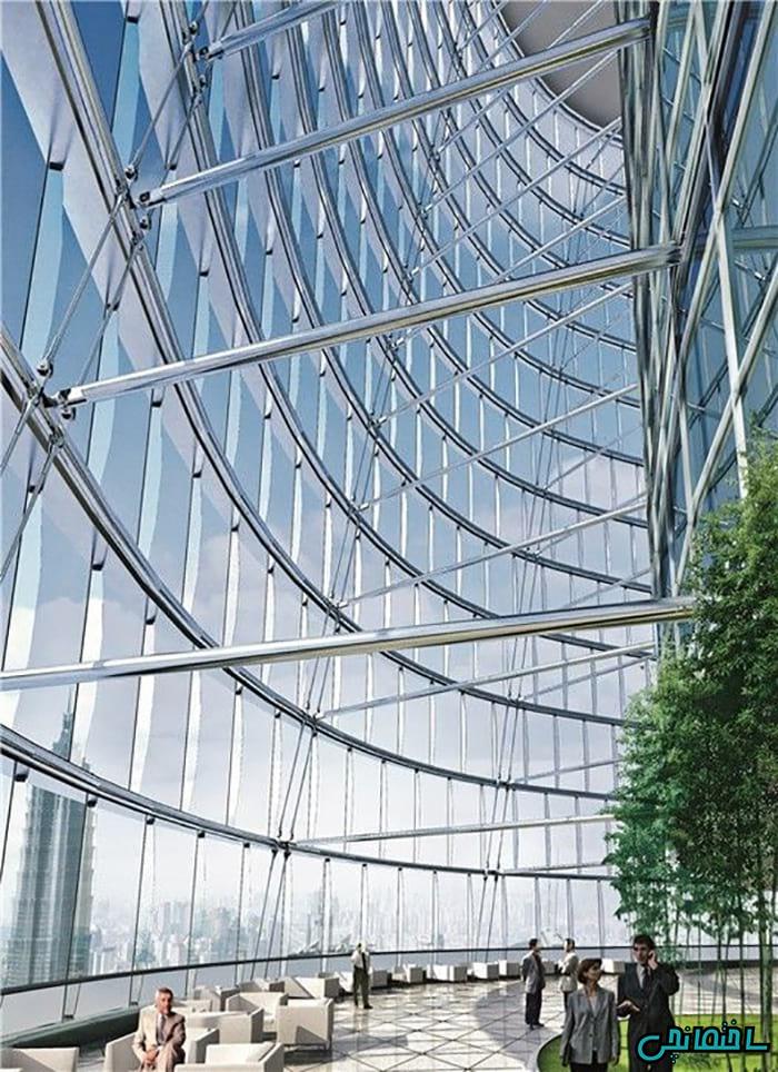 10تصویر خیره کننده نمای شیشه ای curtain wall