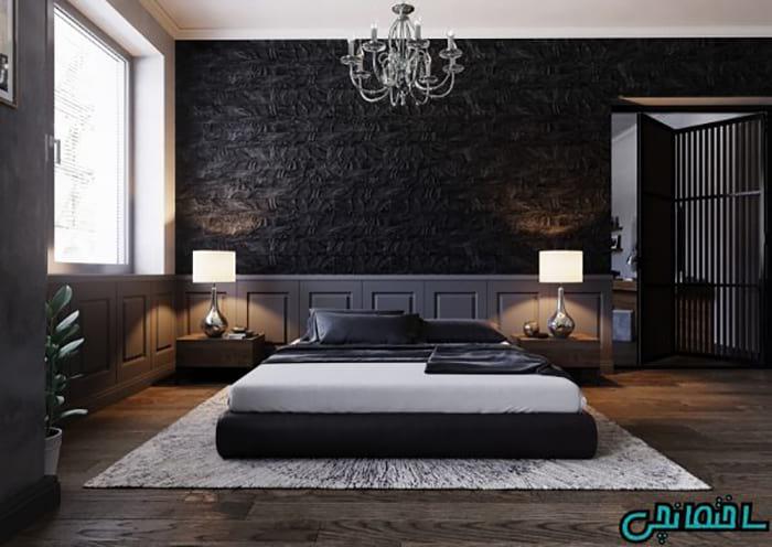 استفاده از رنگ مشکی در طراحی اتاق خواب
